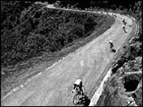 Climbers descend on one of the early Tours