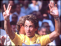 Greg Lemond after winning the 1990 Tour