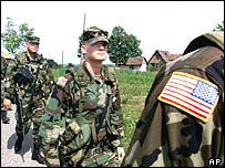 US peacekeepers in Bosnia