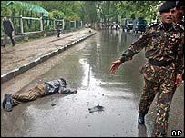 Body of suspected militant after attack