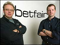 Betfair co-founders Andrew Black (left) and Edward Wray (right)