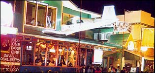 Bar in Manila with plane