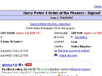 eBay listing