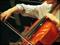 Woman playing a cello