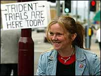 Rosie Kane outside court in Helensburgh