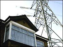Home in South London under pylon (PA)