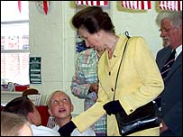 Princess Anne speaks children