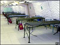 The hospital at Guantanamo Bay, file photo from February 2002