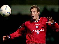 Crewe striker Rob Hulse