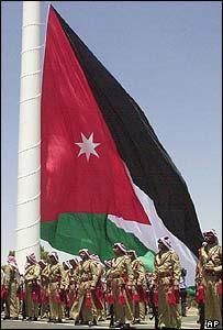 Jordanian guards of honour at the inauguration