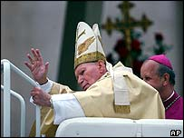 Pope John Paul II at the beatification