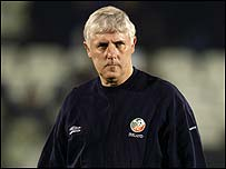 Republic of Ireland U21 manager Don Givens