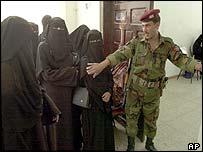 Yemeni women voters