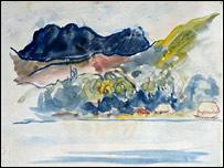 Tahitian Landscape by Gauguin