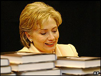 Hillary Clinton signing books