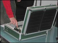 The solar power device - photograph courtesy Suffolk College
