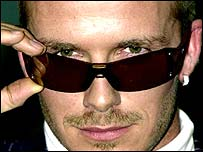Beckham advertising Police sunglasses