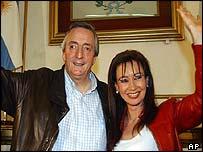 President-elect Nestor Kirchner and his wife Cristina