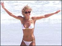 A thin Geri Halliwell