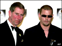 Prince Charles and fashion designer Alexander McQueen
