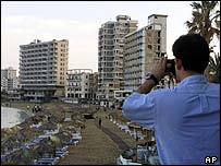 Greek Cypriot takes photos in Famagusta