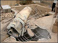 House hit by unexploded missile during Saturday's explosions