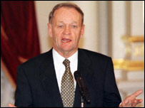 Canada's Prime Minister Jean Chretien