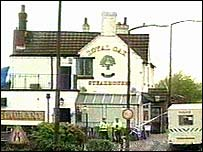 The Royal Oak Pub, in Pelsall, where Mr Hughes was found.