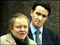 Mo Mowlam with Peter Mandelson