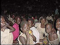 Children in Gulu church