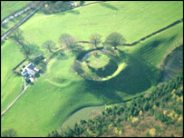 Sycharth castle ( picture courtesy of Clwyd Powys Archaeology Trust)
