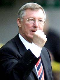An ecstatic Sir Alex Ferguson