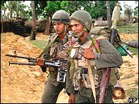 Sri Lankan troops in Jaffna