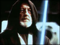 Sir Alec Guinness as Jedi Knight Obi Wan Kenobi