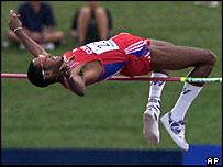 Cuban world champion high-jumper Javier Sotomayor