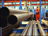 Rolls of Corus steel