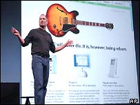 Steve Jobs launching the new music service