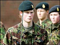 Harry in the Eton Combined Cadet Force