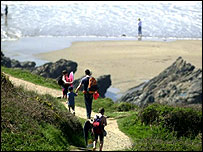 Cornwall coastal path