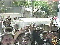Al-Jazeera image of funeral in Falluja
