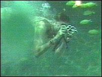 Guy Venables in the shark tank