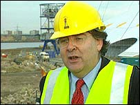 Lord Falconer at the Millennium Dome