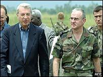 Aldo Aiello, EU special representative in eastern Congo (l)