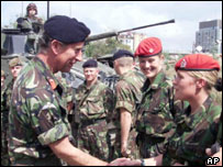 Prince Charles meets service personnel