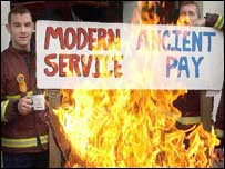 Firefighters on strike over pay and conditions
