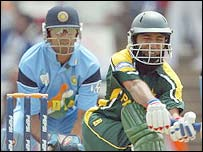Dravid and Anwar during the World Cup