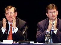 David Trimble and Jeffrey Donaldson facing no-confidence votes