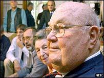 General Janko Bobetko during a press conference in Zagreb in 2002