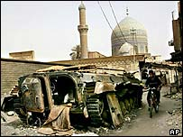 Iraqi armour destroyed in the second Gulf War
