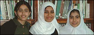 Schoolgirls from Revolution Girls School - Amira, Reem and Rima